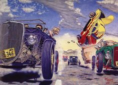 The Hot Rod Race by Robert Williams