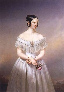 Alexandra Nikolaevna of Russia (1825 - 1844). Daughter of Nicholas I and Charlotte of Prussia. She married Frederick William of Hesse-Kassel and had one son.