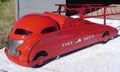 1960s Toys, Retro Toys, Vintage Toys, Toy Trucks, Fire Trucks, Antique Toys, Vintage Antiques, Tin Toys, Fire Dept