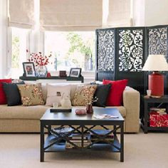 4.Decorative screen for Asian home is not only use to divide the room #AsianHomeDécor,