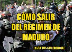 Cómo salir del régimen opresor de Maduro ?  http://www.facebook.com/pages/p/584631925064466