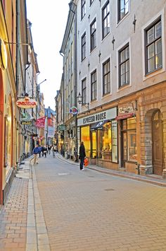 Gamla Stan, old city of Stockholm in Sweden