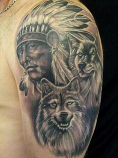 26 Native Wolf Tattoo