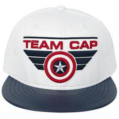 """Cappellino con visiera """"Team Cap"""" di #CaptainAmerica Civil War."""