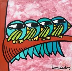 OBRAS : Claudio Baldrich Artista Plastico Ideas, Tela, Little Birds, Abstract, Paintings, Animales, Artists, Drawings, Thoughts