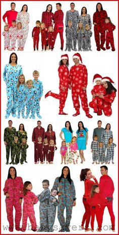 Christmas footie pajamas for the family - they make such cute holiday photos! #matching #pajamas #christmas #holidays #family Christmas Footie Pajamas, Matching Family Christmas Pajamas, Matching Pajamas, Family Pjs, Family Christmas Onesies, Matching Clothes, Holiday Pajamas, Christmas Clothes, Christmas Fashion