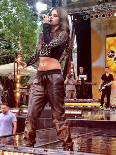 Selena Gomez Rocks Leather Pants On 'Good MorningAmerica'