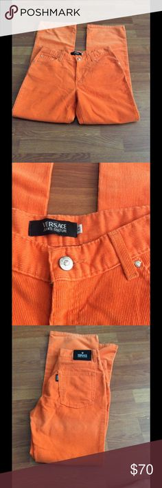 Versace couture corduroy jeans Gorgeous and perfect condition.  Great color for fall.  No rips, stains and tears. Versace Jeans Straight Leg
