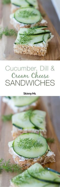 We�re going ultra-lightweight and super refreshing with our Cucumber, Dill and Cream Cheese Sandwiches on Whole Wheat Toast. #cucumberdillsandwiches #sandwichrecipes