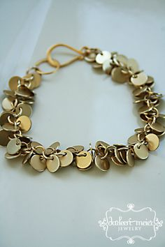 EDIE tiny gold circle chain cluster bracelet by darleenmeier, $34.00