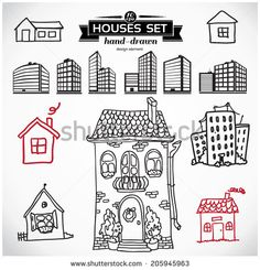 House Sketch Stock Vectors & Vector Clip Art | Shutterstock