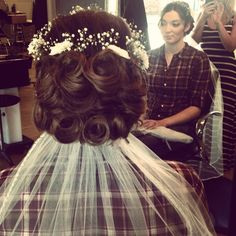Wedding hair by me! Febelong