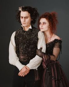 Helena Bonham Carter and Johnny Depp in Sweeny Todd