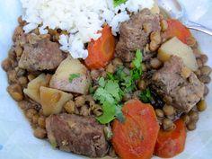 Lentils and Beef Stew ( Estofado de Lentejas con carne)-Colombia