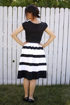 delia creates: striped skirt