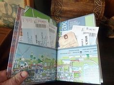 travel journal-love the idea of using maps, love this idea!!