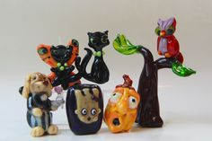 some of the Halloween gang...more lampwork glass beads.