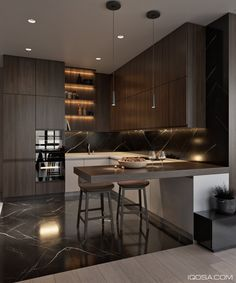 5 Impressive Ideas Can Change Your Life: Small Kitchen Remodel Granite apartment kitchen remodel granite countertops. Contemporary Interior Design, Modern Kitchen Design, Interior Design Kitchen, Kitchen Contemporary, Modern Design, Contemporary Cottage, Contemporary Apartment, Contemporary Fireplaces, Contemporary Architecture
