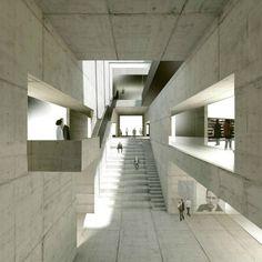 El manejo del vacio para configurar los espacios -New Bauhaus Museum / Architekten HRK