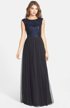 a42daf4eb Aidan Mattox Beaded Ball Gown available at #Nordstrom Jewel Tone Bridesmaid,  Bridesmaids, Formal