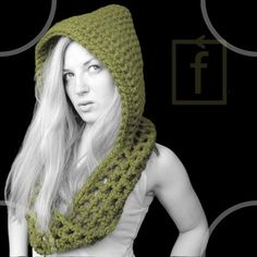 hooded scarf pattern - CROCHET