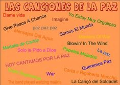 Canciones para trabajar el Día de la Paz 2014 Recopilatorio de Orientación Andujar - Orientacion Andujar Spanish Teacher, Spanish Classroom, Peace Crafts, English Lessons, Conte, School Projects, Check It Out, Religion, Teaching