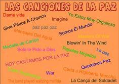 Canciones para trabajar el Día de la Paz 2014 Recopilatorio de Orientación Andujar - Orientacion Andujar
