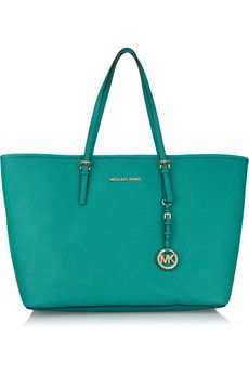 MICHAEL Michael Kors/Jet Set Travel Medium textured-leather tote.  Love the color!