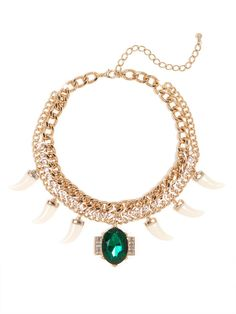 We love the intricate beauty of our Emerald Hunter Collar