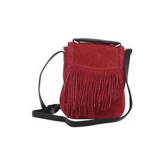 a53a4c387a9 NOVICA Adjustable Fringed Crimson Suede Shoulder Bag from India (951.790  IDR) ❤ liked on
