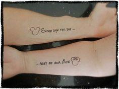 2017 Trend Paare Tattoos - Disney unter dem Motto Paar Tattoos Source by Bff Tattoos, Tattoos Infinity, Friend Tattoos, Cute Tattoos, Tattoo Quotes, Married Couple Tattoos, Disney Couple Tattoos, Couple Tattoos Love, Matching Couple Tattoos Quotes