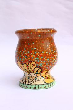 Pebble Painting, Dot Painting, Paper Mache Bowls, Flower Pots, Flowers, Painted Pots, Clay Pots, Ceramic Art, Wood Art