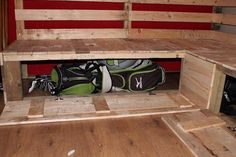 reclaimed pallet sectional sofa with secret stash