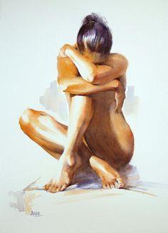 Secret Life Painting - Pauline Adair watercolor