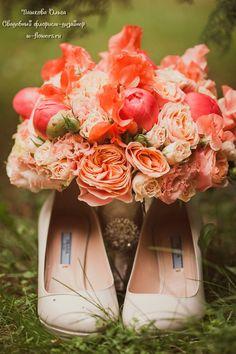 Коралловый букет невесты. Флорист Пашкова Ольга #букет #свадебный #невесты #пионы #bouqet