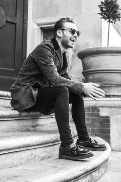 Jack from Of Empire wearing the Adrian shoe, photographed by Josh Fletcher. Dr. Martens, Dr Martens Men, Fashion Shoes, Men's Fashion, Fashion Outfits, Mens Tassel Loafers, Dr Martens Style, Loafers Outfit, Men Looks