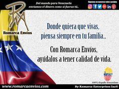 Con #RomarcaEnvios ayuda a tus familiares a tener una mejor calidad de vida.   #EnvioDeDinero #VenezolanosEmElExterior