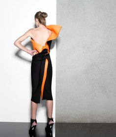 Toni Maticevski Resort 2014 - love the back even more and the contrast.