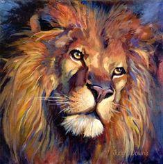"""""""aslan"""" original fine art by Judy Downs"""