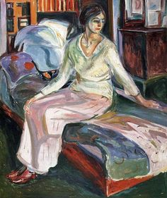 "terminusantequem: ""Edvard Munch (Norwegian, 1863-1944), Model on the Couch, 1924. Oil on canvas """