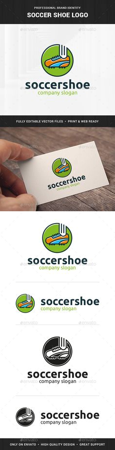 Soccer Shoe Logo Template — Vector EPS #shop #print • Available here → https://graphicriver.net/item/soccer-shoe-logo-template/15698765?ref=pxcr