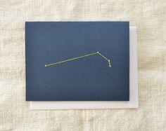 Aries Constellation Embroidered Card