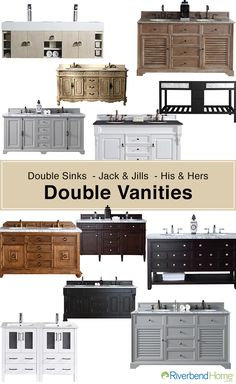 Need a little elbow room?  Anyone who has to share a bathroom knows how important a double vanity can be, take a look at all the incredible options you have !