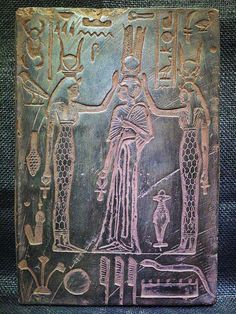 ANCIENT EGYPT EGYPTIAN ANTIQUE Hathor Isis Nefertari Stela Relief 1279-1213 BCE