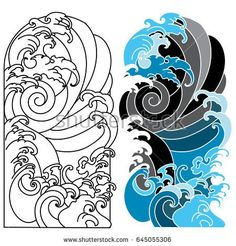 Japanese Wave for Tattoo,Ocean tattoo for Arm
