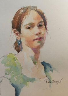 Quick Sketch Portraits — Pam Wenger Watercolors Watercolor Face, Watercolor Sketch, Watercolor Illustration, Watercolor Painting Techniques, Watercolor Portraits, Watercolour Painting, Watercolours, Anatomy Sketches, Quick Sketch