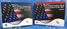 "2013 Annual 28-coin Uncirculated Mint Set - 14 Uncirculated Coins Each ""D"" & ""P"""