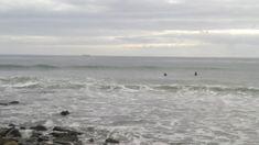 Beach Waves Malibu Cloudy Day