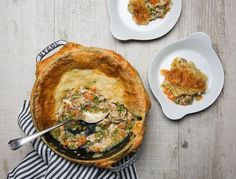 Easy dinner recipe: This healthy version of a chicken pot pie.