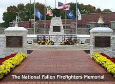 National Fallen Firefighters Memorial Emmitsburg Maryland Steve and I have a brick on this walkway. Fire Dept, Fire Department, National Fire Academy, Emmitsburg Maryland, Firefighter Emt, Honor Guard, Fire Fire, Fire Prevention, Firemen